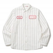 (CLUCT:) L/S STRIPE WORK SHIRT