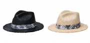 (CLUCT:) ROUGH EDGE STRAW HAT