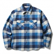 (CLUCT:) FLANNEL DOUBLE CLOSURE SHIRT