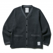 (CLUCT:) BARB WAFFLE WOOL CARDIGAN